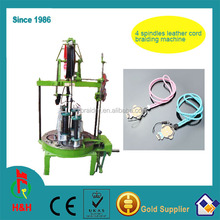 Best selling 4 strands leather cord braiding machine price