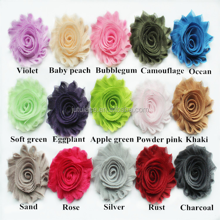 wholesale rosette trim ,top seller chiffon shabby flowers by the yard