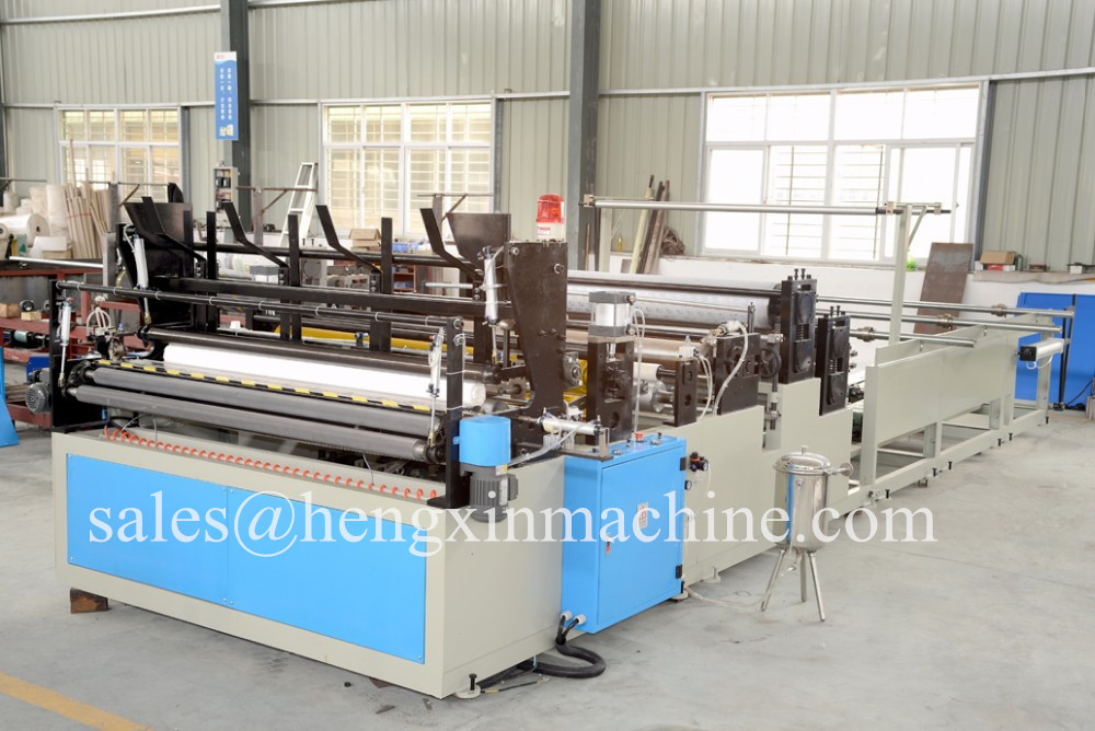 Rewinding and Perforating Toilet Paper Machine