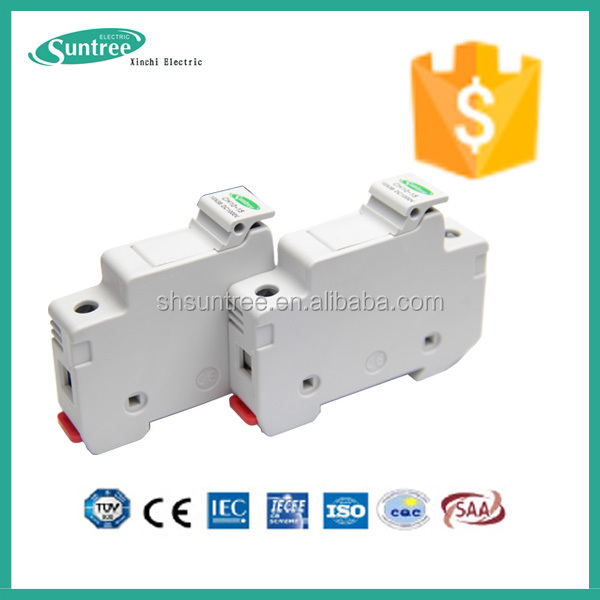 Low voltage dc fuse 15a 1000v ceramic tube Solar 1p dc fuse panel