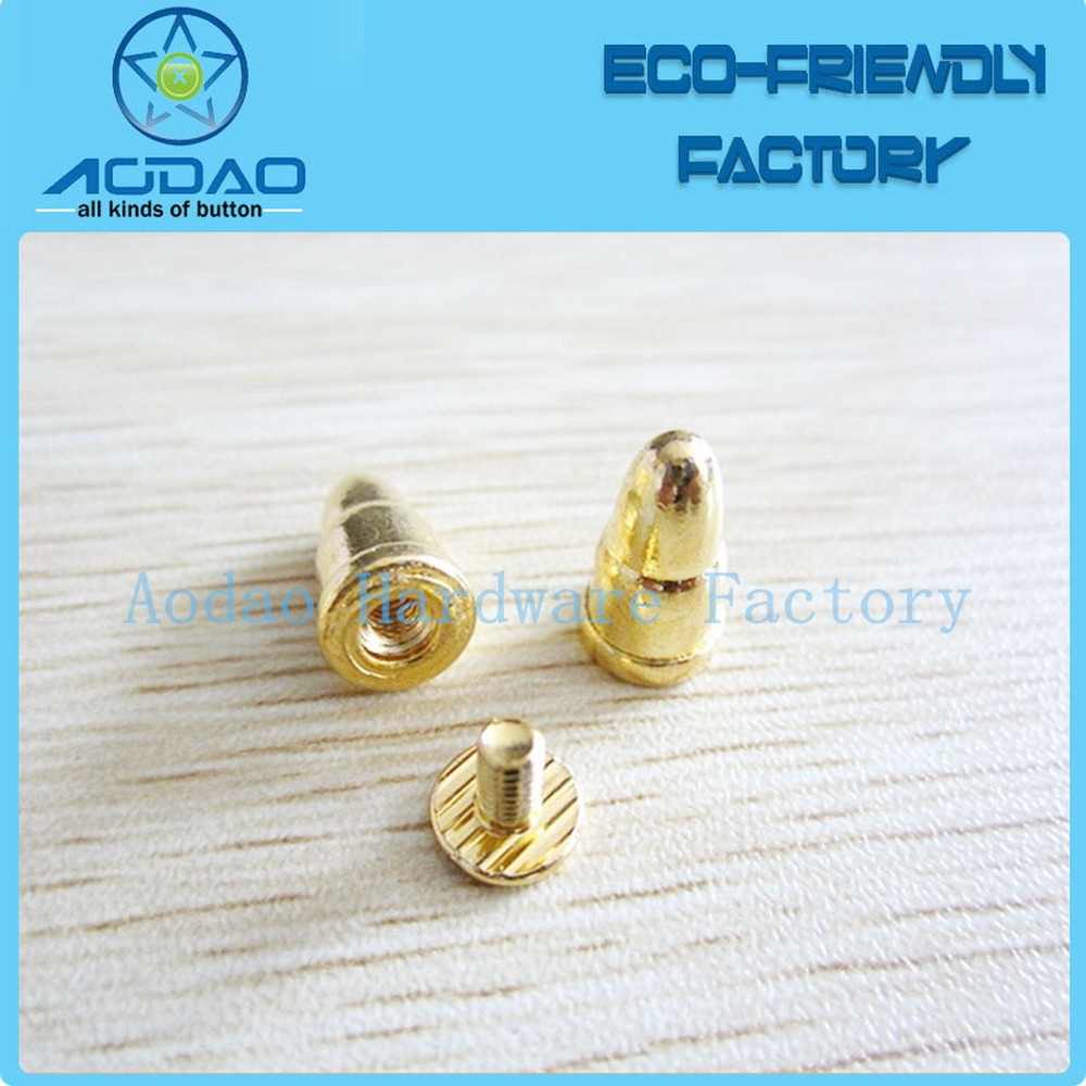 Wholesale decoration rivet gold spike studs head domed