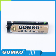 aa lr6 am3 alkaline battery with Aluminum foil jacket