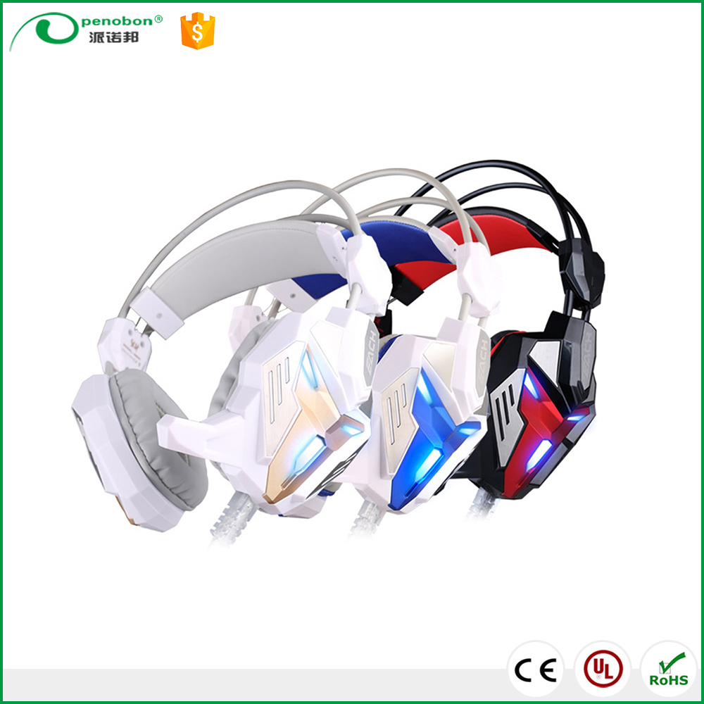EACH G3100 Vibration Function Pro Gaming Headphone Games Headset with Mic Stereo Bass LED Light for PC Gamer