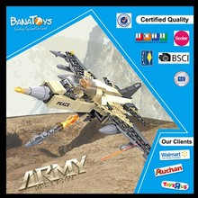 Special Offer! 2015 Good quality child funny building block making machine army toys of fighter plane toy F16 block with 208 pcs