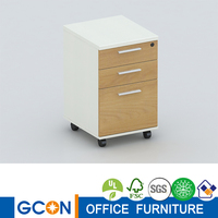 2014 NEW 3 Metal Drawer Mobile Office Pedestal Furniture with Metal Drawers