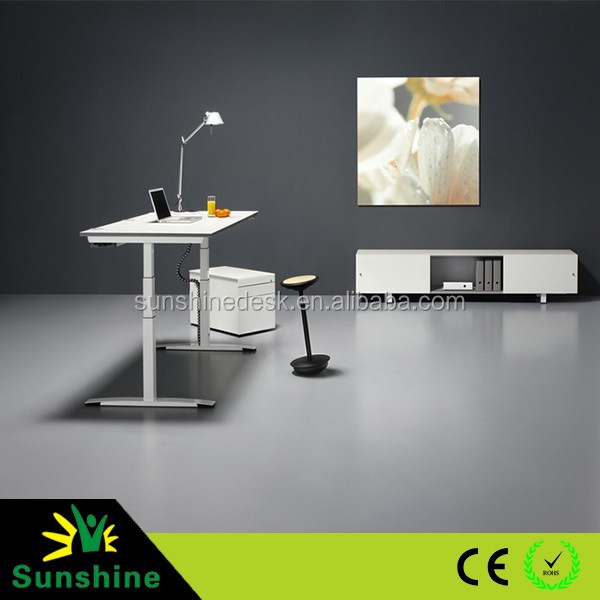 Sitting to standing modern executive desk office table design