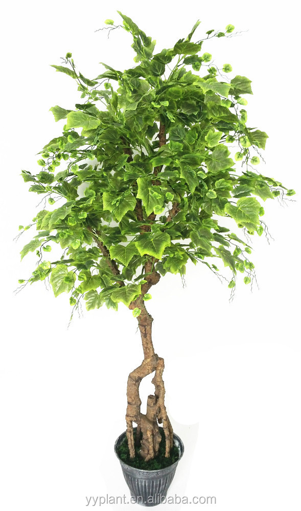 2015 newly designed high quality 195CM height yongyue No.5 artificial PE stem green leaves grape tree ---model 0792