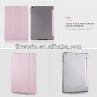 FL3330 2014 high quality three folding smart cover leather case with sleep wake mode for apple ipad air 5