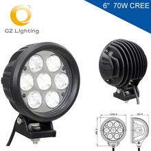 "Factory price 6"" car led Driving light 70W 10-30V DC led offroad light for heavy duty,auto parts,trucks with CE RoHS and IP67"