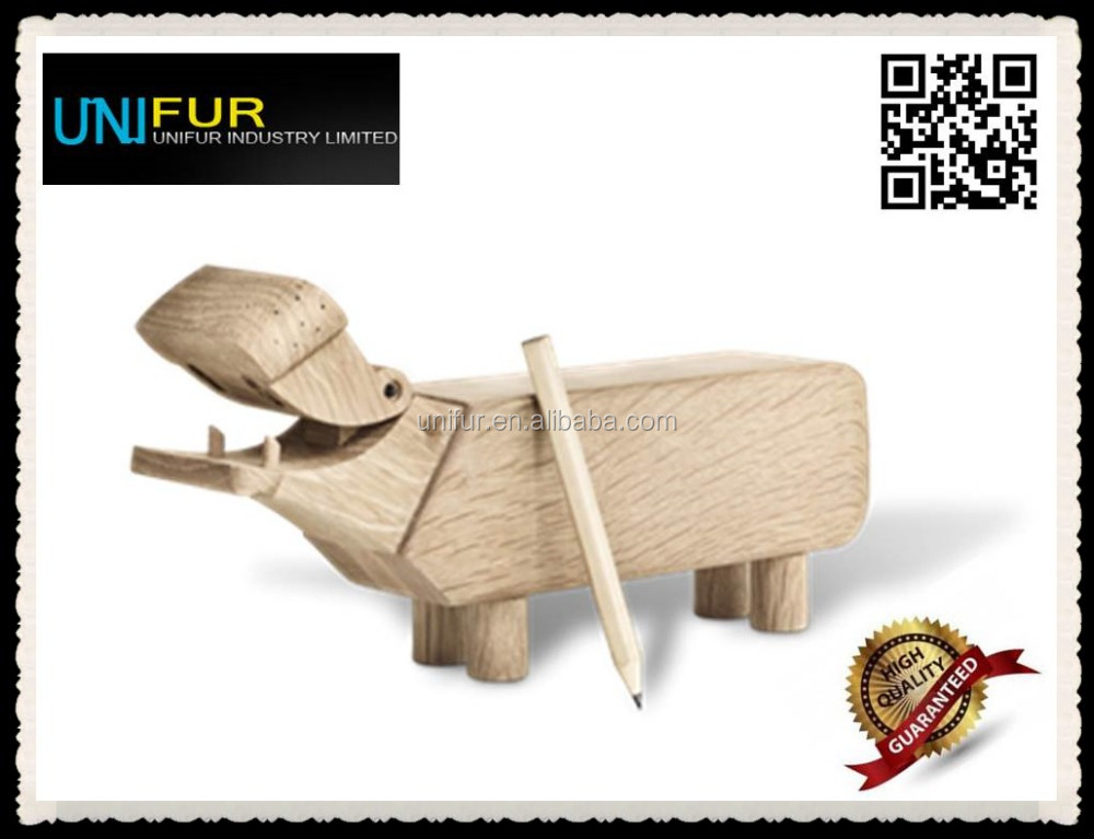 Wholesale&retail popular cute classic much-loved wood hippo toy