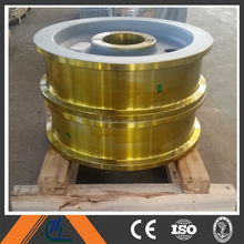 Henan Huabei customized steel or forging wheels for gantry crane/overhead crane/mobile crane