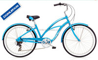 2015 hot sale 26 inch 7 speed women's aluminum alloy beach cruiser bicycle made in China