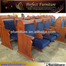 CH4030 wood church chair interlocking church chair for church furniture