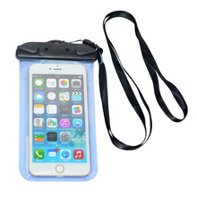 Promotional cute cartoon pvc waterproof cell phone bag