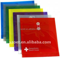 Customized plastic Envelope Folder, PP PVC file envelope with logo printing