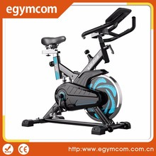 A stationary training exercise bike, spinning bicycle cycling exercise bike