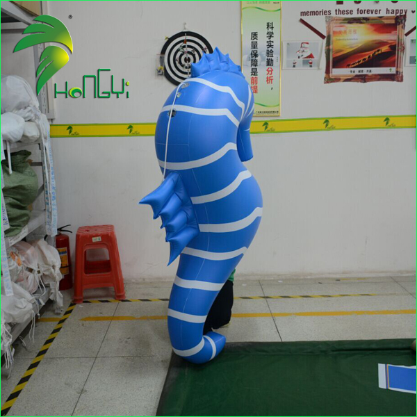 Lovely Promotion Multi-color Light Inflatable Sea Horse / LED Inflatable Seamaster Infauna Replica Model Display