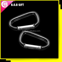 fashionable cheap D shape aluminum carabiner