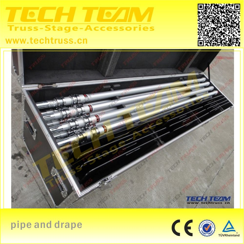 Aluminum telescopic pipe , backdrop pipe and drape for wedding ,used pipe and drape for sale