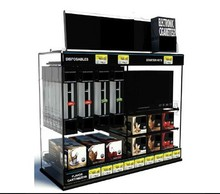 Custom made acrylic display rack for holding E cig / plexiglass E cigarette display case in supermarket