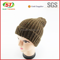 Winter mens knitted slouchy beanies knit long beanies cap