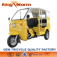 Chinese 4 passenger seats bajaj three wheeler electric motorcycle