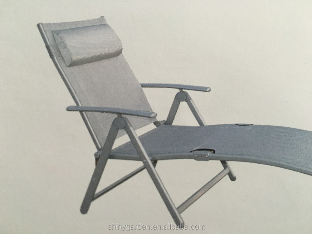 Ajustable tumbona plegable al aire libre chaise lounge for Silla tumbona plegable
