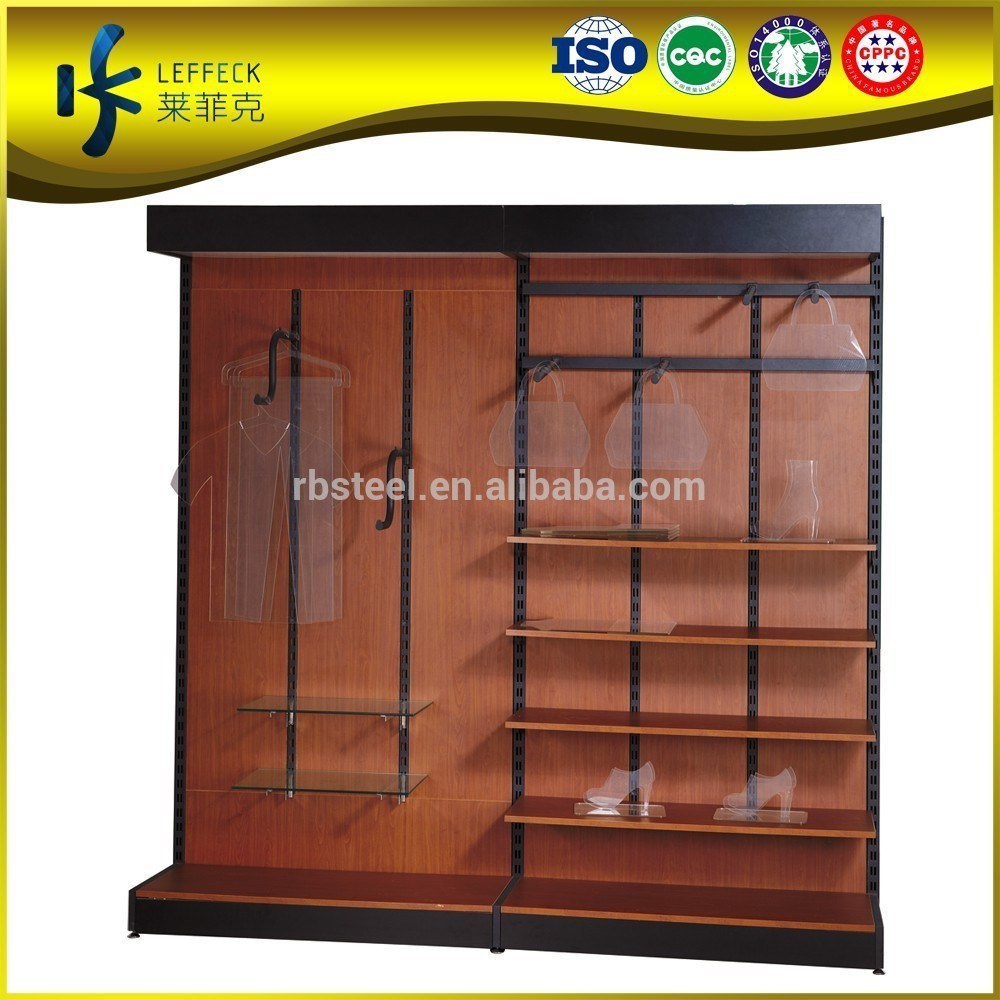 2015 economic garment display racks/ clothes display cabinet/ clothes display gondolas