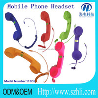 moshi Mobile phone handset / pop phone retro handset for iphone/anti-radiation,color retro handset