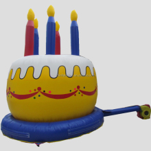 inflatable advertising birthday cake for party, inflatable cake model