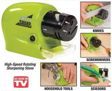 As Seen On Tv Brand New arrivel cordless electric knife sharpener swifty sharp for kitchen,portable knife sharpener stone