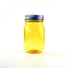 new product storage jar colored condiment jar for mustard plastic mason jar with lid