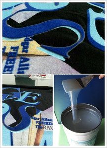 inks manufacturer in dongguan, silicone based flock adhesive with super soft hand-feel
