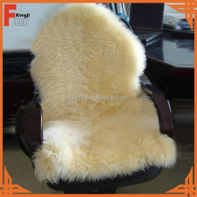 Top quality real fur natural color Australian sheep fur skin for sofa