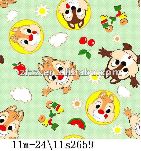 chip&dale print flannel fleece fabric