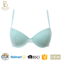 OEM classic design ladies comfortable soft padded lace bra for women underwear lingeries
