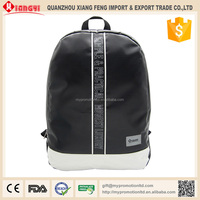 Black color tarpaulin backpack manufacturers china backpack