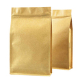 Customized brown kraft paper side gusset bags for food with zipper