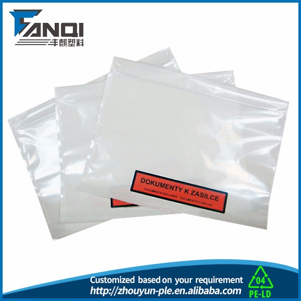 self adhesive envelopes/packing list envelope document pouch/pakcing list enclosed shipping supplies packaging materials