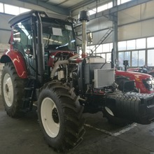 Tractor With Remote Control And Front End Loader And Backhoe