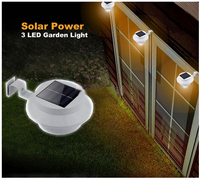 Outdoor proof Solar Powered Fence Gutter led Light Outdoor Garden Yard Wall solar fence Light