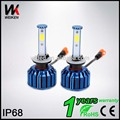 H1 series 60w led headlight COB bulbs yellow white blue ip68 12 volt auto motorcycle lamps