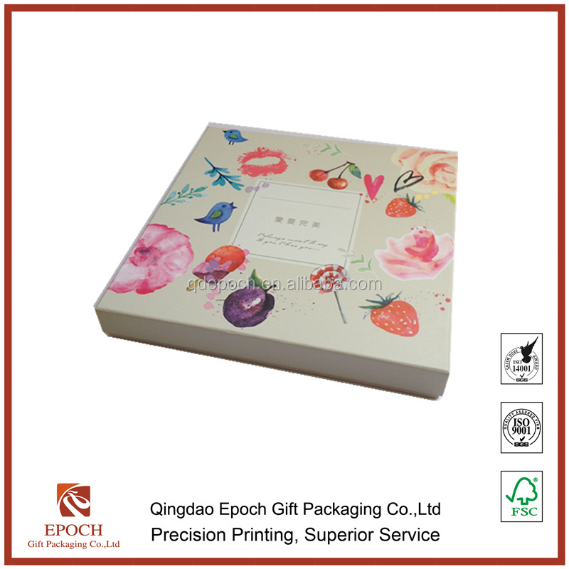 luxury gift paper box with top and bottom lid