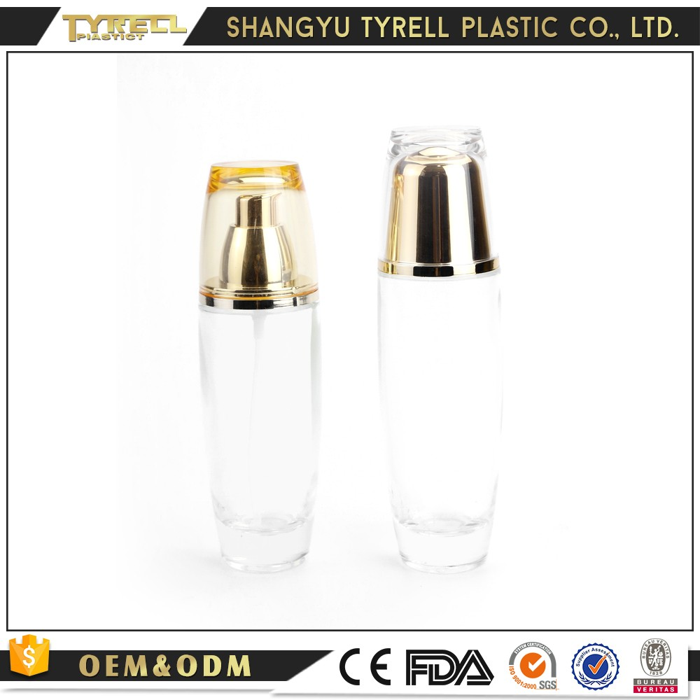 Fashion Design Luxury Travel Container Glass Cosmetic Bottle