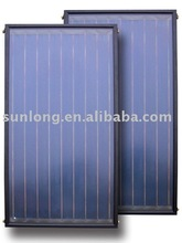 Flat plate pressured solar collector