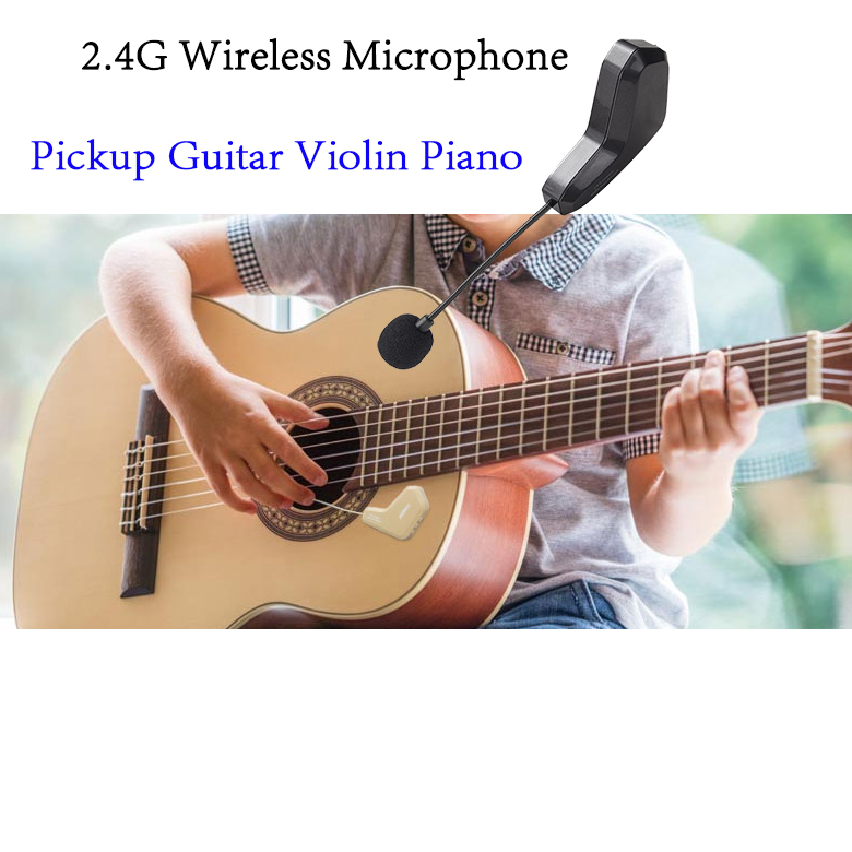 guitar violin piano pickup 2.4G Wireless microphone