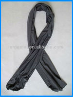 Solid color cotton mens winter scarf