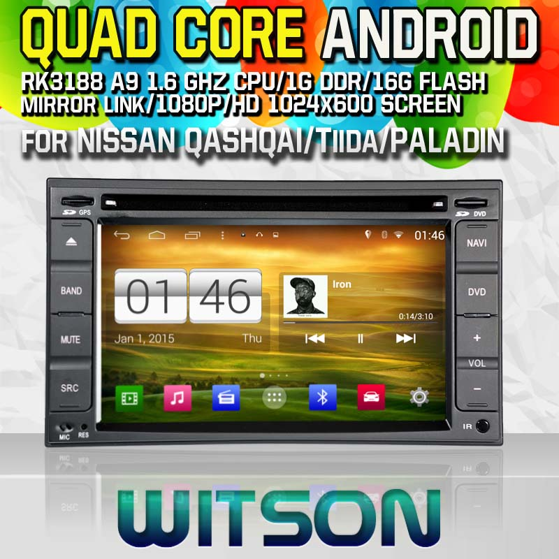 Witson S160 Android 4.4 Car DVD GPS For NISSAN QASHQAI/Tiida/PALADIN/Frontier with Quad Core Rockchip 3188 1080P 16g ROM WiFi