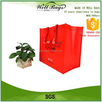 custom fashion red PP non woven laminated carry shopping green reusable bag alibaba trade assurance