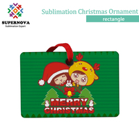 Merry Christmas Sublimation Blank Ornament, Home Decoration Ornament, Blank Sublimation Ornament